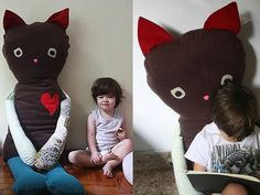 Giant Handmade Kitty Friend — Maminas