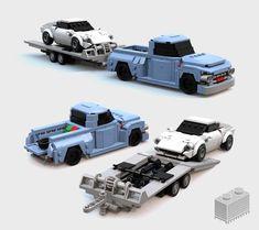 Old Pick Up with trailer - - Lego Lego Vehicles, Star Wars Vehicles, Rescue Vehicles, Army Vehicles, Flying Vehicles, Lego Army, Lego Military, Easy Lego Creations, Custom Lego