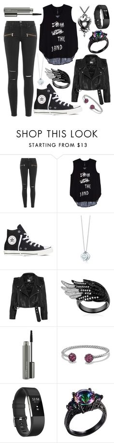 """""""Untitled #333"""" by beth15n ❤ liked on Polyvore featuring Paige Denim, Melissa McCarthy Seven7, Converse, Tiffany & Co., Vetements, MAC Cosmetics, David Yurman, Fitbit and plus size clothing"""