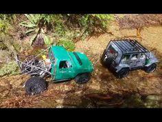Scx10'll Newbright Jeep Wrangler with Chevy Rc4x4 Adventure