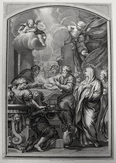 Luke in the Phillip Medhurst Collection 137 The circumcision of Jesus Luke 2:21 Mignard on Flickr. A print from the Phillip Medhurst Collection published by Revd. Philip De Vere at St. George's Court, Kidderminster.