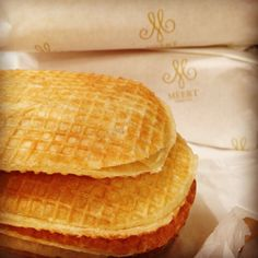 """""""If you stop by Lille (going to the Games for instance), don't miss the absolute Meert delight: the Flemish inspired waffle. Flat, filled with a sugar, butter and vanilla cream. Open since 1761, the bakery is one spot you can't miss, at least for the beautiful arrangement. Plus, you can have have a break there in the tea room perfectly designed."""""""