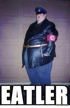 Funny Fat Hitler Eatler Meme Joke Image