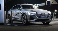 2021 Audi E-Tron Sportback Lands In The UK From 79900 Privacy Glass, Bang And Olufsen, Sport Seats, Audi Sport, Brake Calipers, Led Headlights, Black Accents, Audio System, Alloy Wheel