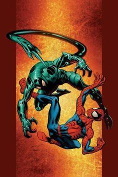 Ultimate Spider-Man vs Ultimate Scorpion (cover of Ultimate Spiderman Ultimate Spider Man, Ultimate Marvel, Comic Book Villains, Marvel Comic Books, Marvel Characters, Amazing Spiderman, Spiderman Art, Marvel Vs, Marvel Heroes
