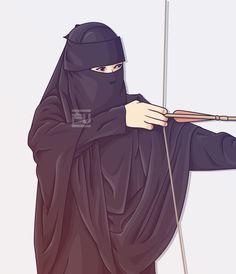 Hijab Niqab, Muslim Hijab, Islam Muslim, Mode Hijab, Muslim Girls, Muslim Women, Muslim Couples, Cartoon Girl Drawing, Girl Cartoon