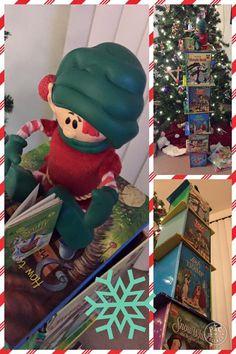 Elf on the Shelf Book Tower