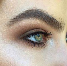 simple brown smokey eye. no liner, no false lashes