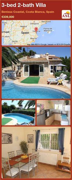 3-bed 2-bath Villa in Benissa Coastal, Costa Blanca, Spain ►€339,000 #PropertyForSaleInSpain