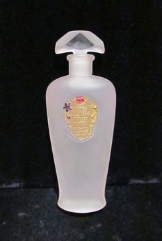 Antique Perfume Bottle Richard Hudnut Three Flowers Toilet Water Circa 1915