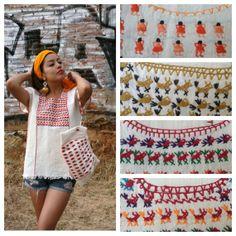 Hand embroidered peasant blouse Huipil por CasaOtomi en Etsy, $49.00