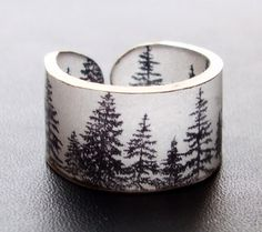 if i wore bracelets, they would look like this... Forest Ring  Choose Your Size by dillondesigns on Etsy, $5.99