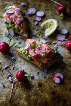 Avocado Toast with Smoked Salmon and radishes, gluten free