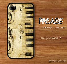 Music & Lyrics on piano style: Handmade Case for Iphone 4/4s , Iphone 5