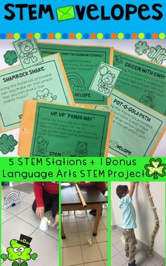 Time to add some ST. Patrick's Day STEM stations to your first, second, third, fourth, and fifth grade classrooms with the help of differentiated sheets, these 6 STEM activities will work across grade levels. From Pot-o-gold mazes to Over the Rainbow Catapults, these stations are perfect for kids of all ages! Steam Activities, Hands On Activities, Science Activities, Science Ideas, Winter Activities, Easy Science Experiments, Stem Science, Science Lessons, 5th Grade Science