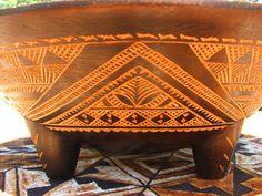 handmade tatau (tattoo) designs on 'ava bowl