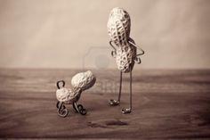 Divertidas figuras con cacahuetes