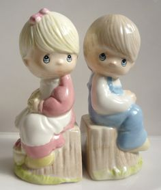 Precious Moments Salt and Pepper Shakers Vintage by wordlove, $10.00 #Vintage #Kitchen #HomeDecor
