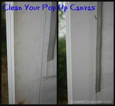 Cleaning the Pop Up Canvas & Cleaning u0026 Waterproofing Pop Up Camper Canvas | Tent trailers ...