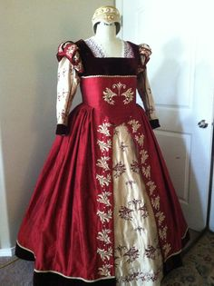 Renaissance Dress, Elizabethan, Tudor, Costume, Wedding Gown - Lay Away…