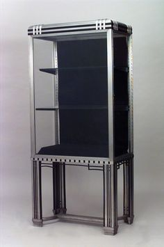 Art Deco French cabinet/case-piece display cabinet/vitrine steel