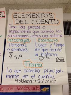 spanish anchor charts in bilingual class Dual Language Classroom, Bilingual Classroom, Bilingual Education, Spanish Anchor Charts, Writing Anchor Charts, Spanish Lesson Plans, Spanish Lessons, Learn Spanish, French Lessons