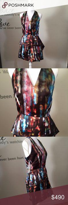 ALEXANDER McQUEEN  Multicolor Cocktail Dress (NWT) ALEXANDER McQUEEN beautiful Multicolor Cocktail Dress, made in Italia (NWT) Alexander McQueen Dresses Midi