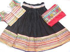 Navratri chaniya choli Black colour with Lace work by mfussion