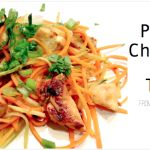 I'm so proud to have been asked to regularly contribute to this online magazine!  Here's my first recipe review there:  Chicken Paleo Pad Thai from The Paleo Mom