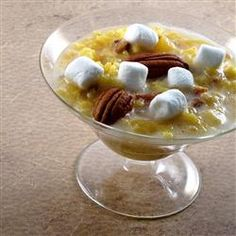 Sweet Heavenly Rice Dessert Allrecipes.com  Am going to try this using quinoa in place of rice.