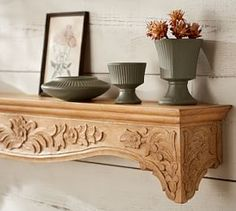 Callie Carved Wood Ledge #Pottery Barn