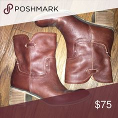 Genuine leather ankle boots Very lightly used. Worn once. Shoes Ankle Boots & Booties