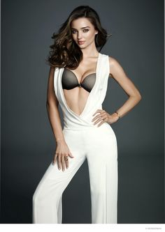Top model Miranda Kerr is back for a new campaign from lingerie brand, WonderBra. The Australian babe, who recently covered Harper's Bazaar US, flaunts her toned body in a mix of bra and panty sets, slip covers as all as loungewear.