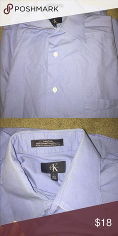 Ck shirt Light blue, 100%cotton, super soft Calvin Klein Shirts Casual Button Down Shirts