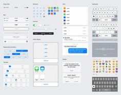 Sketch and Photoshop templates of GUI elements found in the public release of iOS 9.