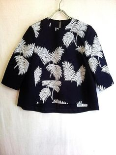 MACPHEE トゥモローランド  ボタニカル刺繍Aラインブラウス  2014SS 定価20520円