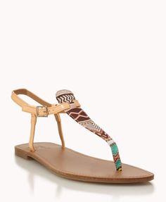 Tribal-Inspired Thong Sandals | FOREVER21 - 2046921575