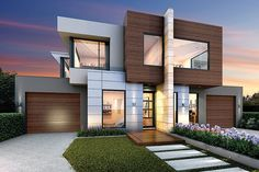 We all have a dream of living in a big house. But what if your living space is tiny? That doesn't mean that your dream is crashed. Smaller homes can also fulfill all your wishes that a bigger house can. Here are some small house design ideas. Bungalow Haus Design, Townhouse Designs, Duplex House Design, Small House Design, Modern House Design, Facade Design, Exterior Design, Residential Architecture, Architecture Design