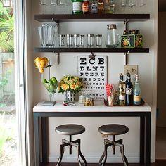 Home Bar Ideas, Transitional, dining room, Amy Meier Design