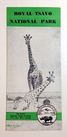 Tsavo National Park Brochure Kenya 1954