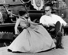 """Romy Schneider, Curd Jürgens bei den Dreharbeiten zu """"Katia"""" (1959)"""