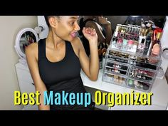 This is a quick video showing you guys how I reorganize my makeup station with my two new faves which are the extra large makeup organizer and lig. Ikea Makeup Hacks, Makeup Storage Organization, Diy Makeup Vanity, Love Makeup, Black Makeup Organiser, Diy Makeup Palette, Makeup Collection Storage, Makeup Haul, Cheap Makeup