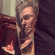 Johnny Cash Tattoo by Nikko Hurtado