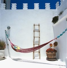 floaters to create beaded ends for hammock? Dar Beida rooftop hammock