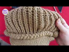 Örgü Kasket Şapka Yapımı Kolay ve Detaylı Anlatım - YouTube Crochet Hat With Brim, Crochet Baby Hats, Crochet Lace, Baby Knitting, Knitted Hats, Cowl Scarf, Knitting Accessories, Hat Making, Beautiful Babies
