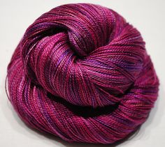 Hand Dyed Mulberry Silk Lace weight  Purple by BalDesFleurs, £8.20
