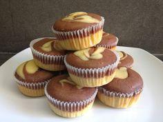 Muffin variegati alla panna ... sofficissimi