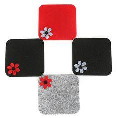 Baharın Renkleri Keçe Çiçekli Bardak Altlığı Felt Diy, Felt Crafts, Diy And Crafts, Felt Coasters, Cork Coasters, Toy Craft, Craft Gifts, Tea Coaster, Leather Coasters