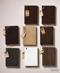 Kohler tailored vanity wood finishes