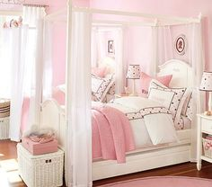Canopy bed  --- LOVE this :) hopefully daddy can make it or something like it :)